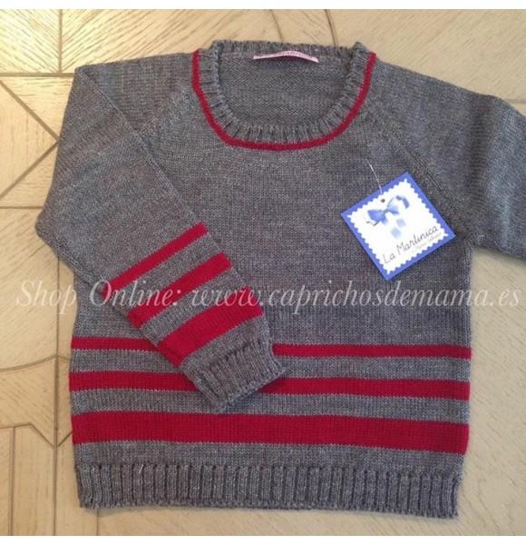 Jersey niño Winter La Martinica gris