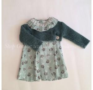 Vestido y chaqueta niña de Foque flores