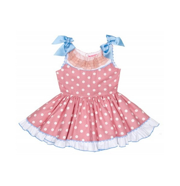 Vestido Rosa De Niña Infantil LunaresRopa Nini QdCBoEWrxe