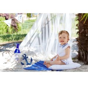 Vestido bebé niña Mediterráneo de Paz Rodriguez