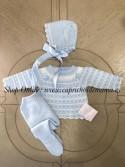 Conjunto polaina bebé unisex de Carmen Taberner