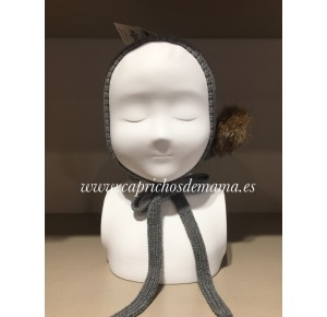 Capota bebé unisex de Sigar punto gris