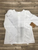 Camisa niña de Mía y Lía volante plumeti