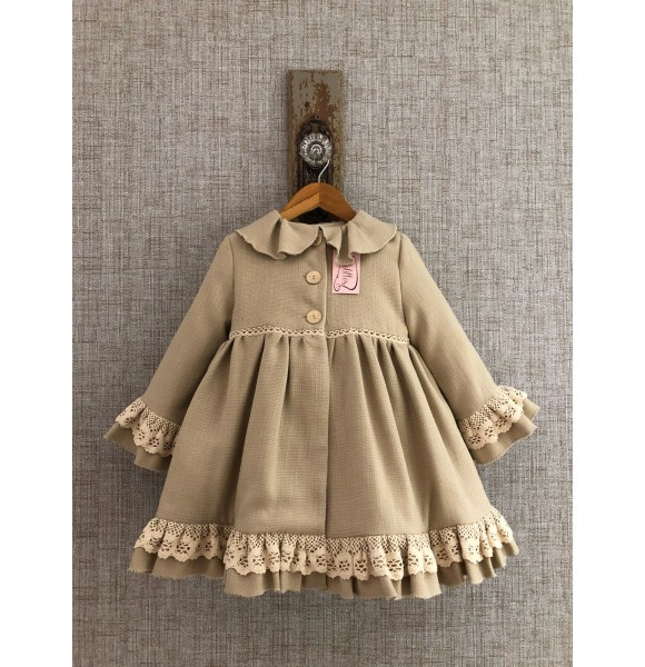 calidad autentica diseño atemporal diseño distintivo Abrigo niña Estambul de Lolittos arena | Ropa Infantil