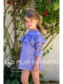 Vestido niña de Pilar Batanero denim manga francesa