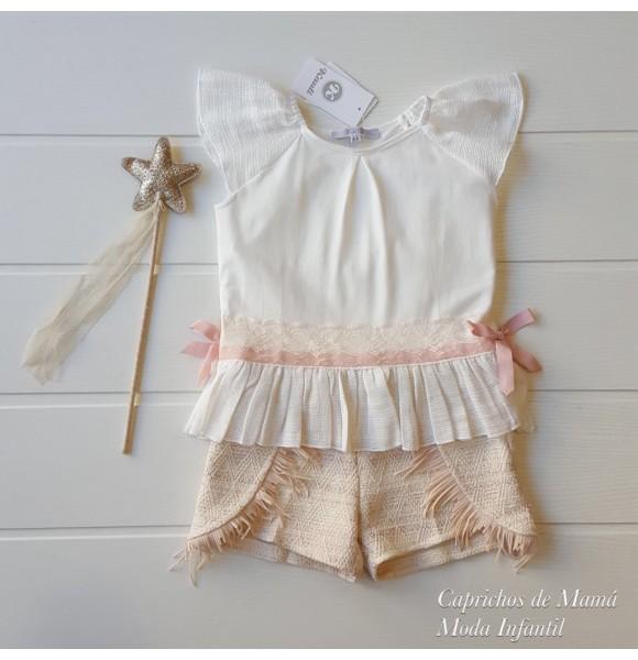d019d7ddb Camiseta y short niña Alicia de Kauli   Ropa Infantil
