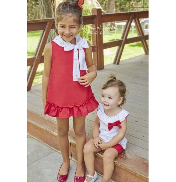 6063fa995284 Vestido niña Chili de Dadati rojo corazones | Ropa Infantil
