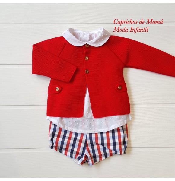 encontrar el precio más bajo estética de lujo precio al por mayor Conjunto bebé niño de Valentina Bebés bombacho cuadros   Ropa Infantil
