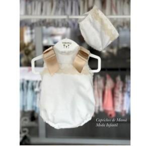 Pelele bebé de Valentina Bebés plumeti encaje