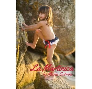 Culetín niña Santorini de La Martinica navy