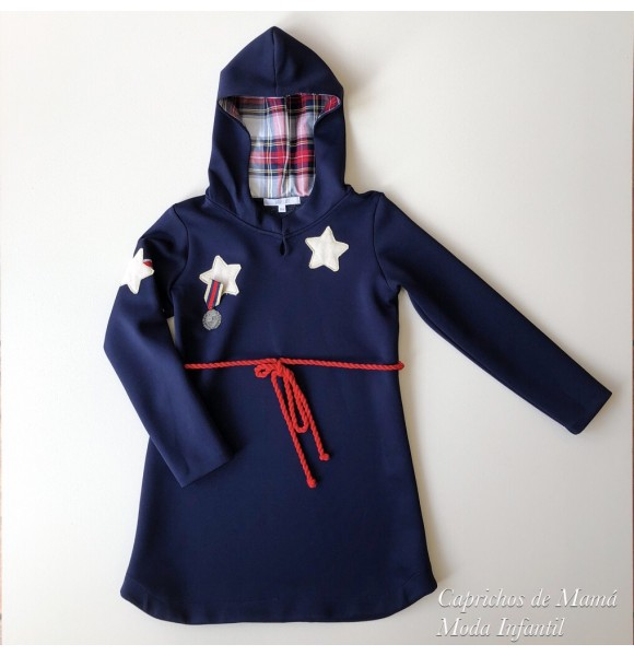 3f1e18f1b Vestido niña Moscú de Kauli neopreno marino | Ropa Infantil