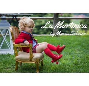 Conjunto bebé niño London de La Martinica tartán rojo