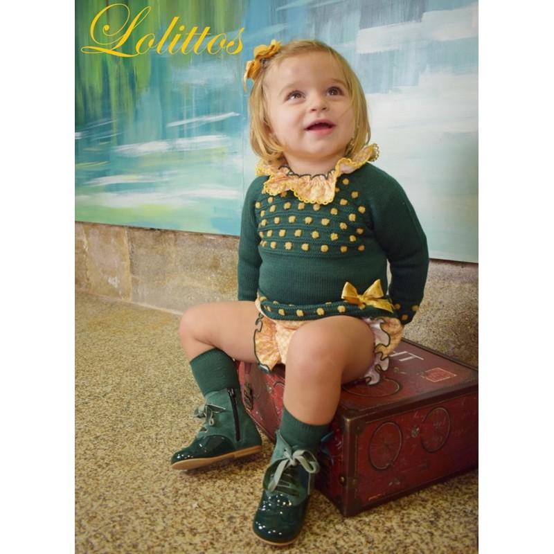 Conjunto bebé niño Desierto de Lolittos verde botella | Ropa