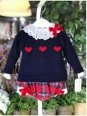 Conjunto bebé niña de Valentina Bebés escocés rojo
