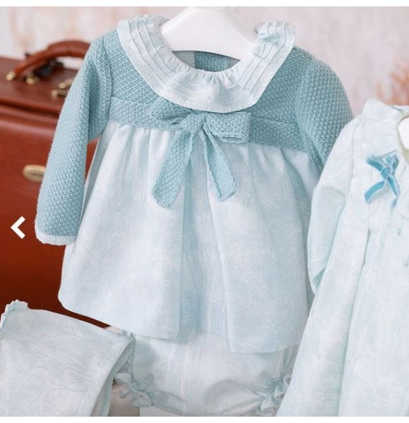 d9179fb38ecb Jesusito bebé niña Adivinanza de Yoedu verde empolvado | Ropa Infantil