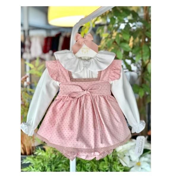 Conjunto bebé niña de Valentina Bebés pichi topitos