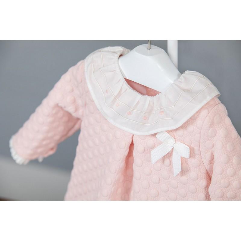 05f1d30fad49 Vestido bebé niña Poemas de Yoedu rosa empolvado | Ropa Infantil