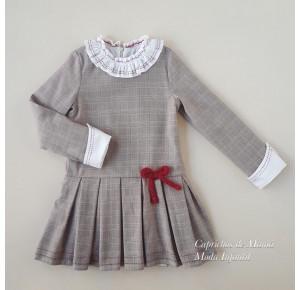 Vestido niña Chicoleta de La Martinica cuadro gales