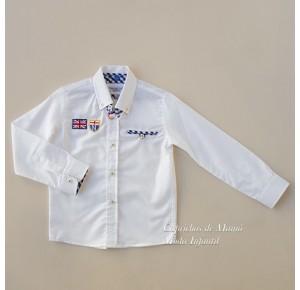 Camisa niño Ducal de Nachete blanca bordados
