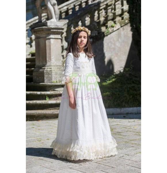 Vestido niña comunión Canela de Badum Badero