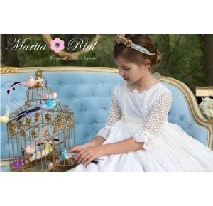 Vestido niña comunión de Marita Rial calado
