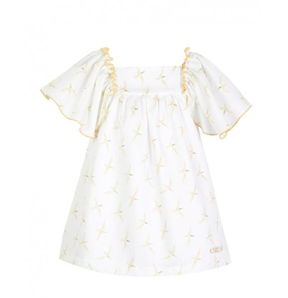Vestido niña de Eve Children estampado pájaros