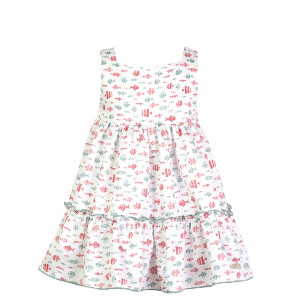 Vestido niña de Eve Children estampado peces
