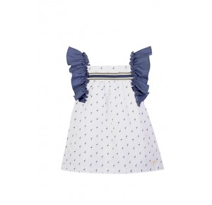 Vestido niña de Eve Children flamencos azul