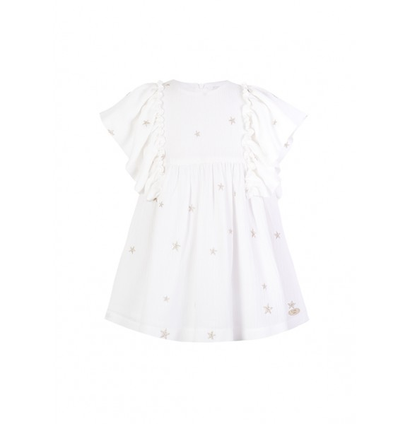 Vestido niña de Eve Children blanco estrellas
