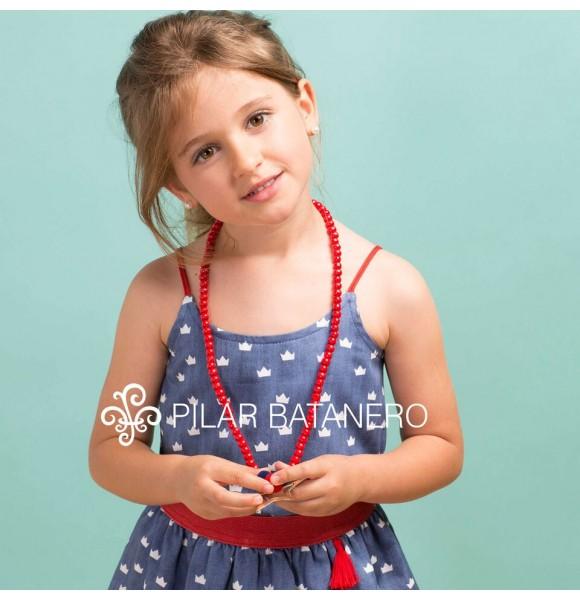 Conjunto niña camisa y falda Coronas de Pilar Batanero