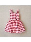 Vestido niña de Mon Petit cuadros rojo
