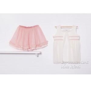 Conjunto niña camiseta y falda Boho de Kauli