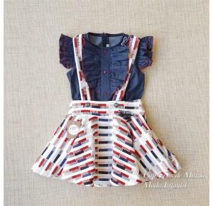 Conjunto niña Maori de Noma Fernández blusa y falda