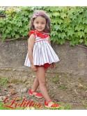 Jesusito niña Navy de Lolittos rayas rojo