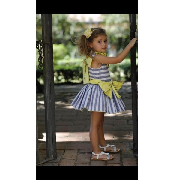 Vestido niña Sion de Lapeppa a rayas talle bajo