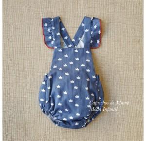 Ranita bebé niña Coronas de Pilar Batanero azul