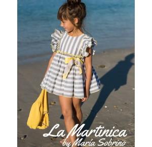 Jesusito niña Arias Bouso de La Martinica rayas gris