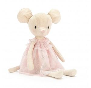 Peluche ratita con vestido rosa de Jellycat