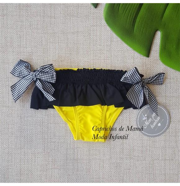 28610ec9ca39 Culetín niña de Mon Petit amarillo y negro | Ropa Infantil