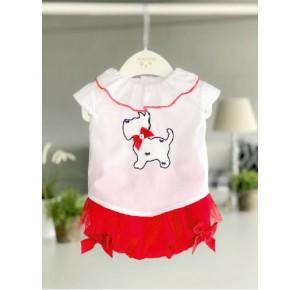Conjunto niña de Valentina Bebés camisa perrito