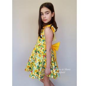 Vestido niña Loros de Badum Badero