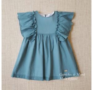 Vestido niña de Eve Children azul volantes