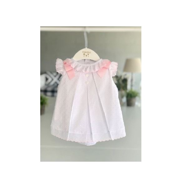 Jesusito bebé niña de Valentina Bebés plumeti blanco