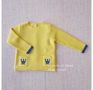 Jersey niña Marie de Eva Castro amarillo