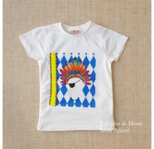 Camiseta niño Frido de Lunares en Mayo flúor