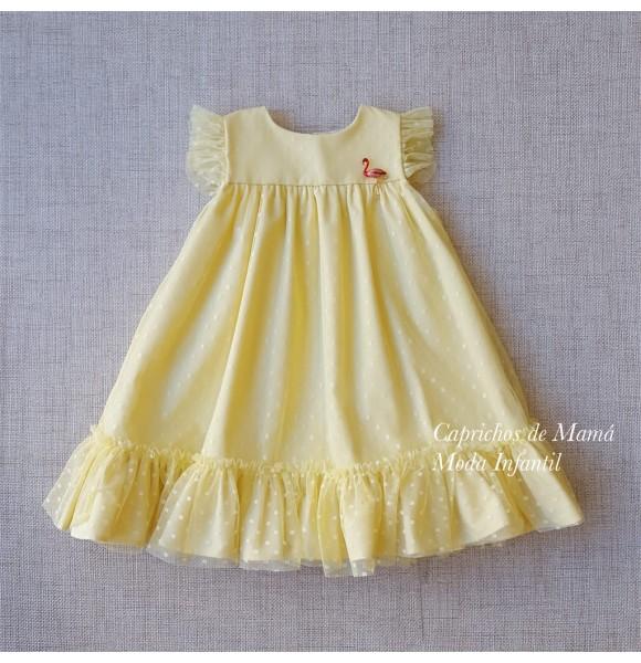 Vestido niña Lemon de Kauli tul amarillo