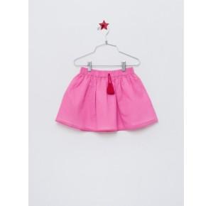 Falda niña de Lunares en Mayo bámbula rosa fucsia