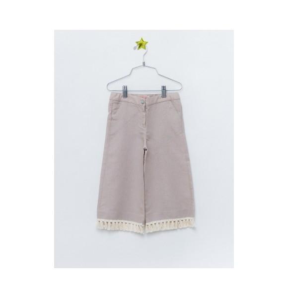 Pantalón niña de Lunares en Mayo crop camel