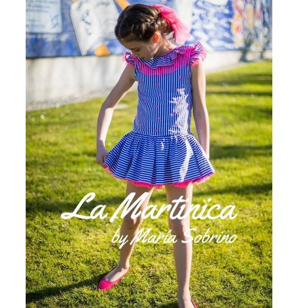 Vestido niña Bitter Kas de La Martinica rosa flúor
