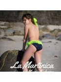 Culetín niña Ananas de La Martinica piñas flúor